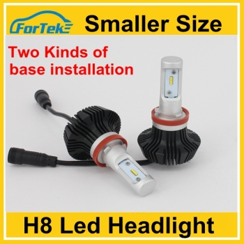 NEW!h8 mini size led head bulbs with two kinds of base installation