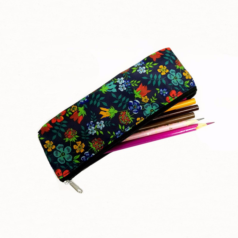 2016 newest fashion fabric zipper pencil bag