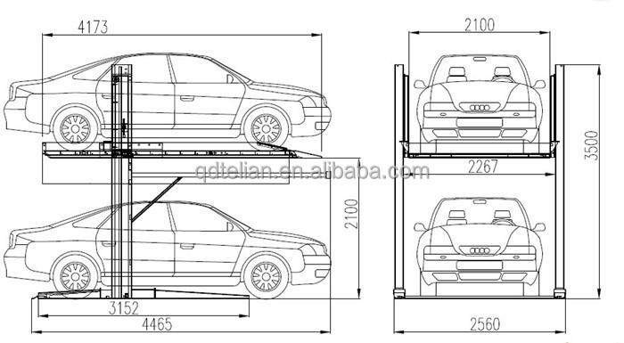 High Quality Car Parking Lift Car Park System Car Parking