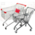 Fancini metal wire 4 wheel supermarket shopping trolley cart
