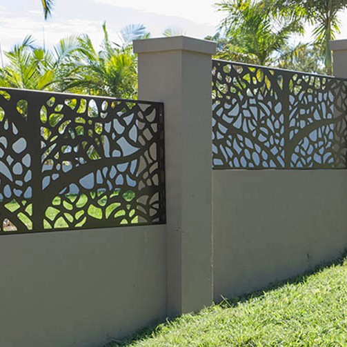 Laser cut outdoor metal screen AS PRIVACY SCREEN
