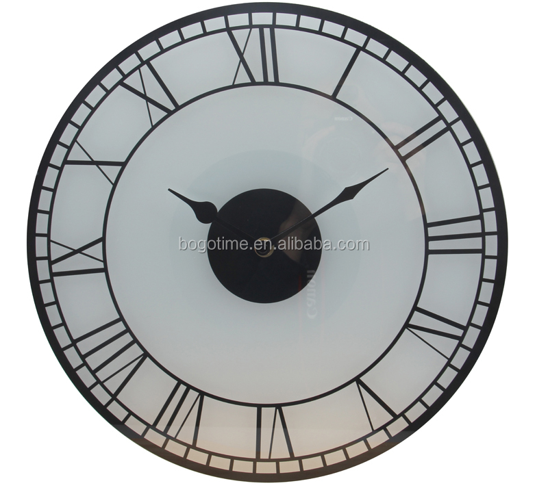 classical Roman numerals design glass wall clocks
