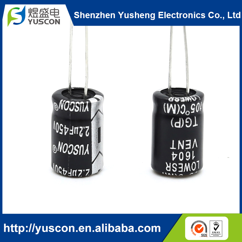 High-quality Electrolytic high voltage 2.2UF 450V capacitor for Switching power supply