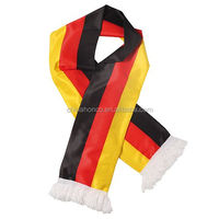 Germany football fan acrylic jacquard scarf/germany knitting scarf for WM 2018 year