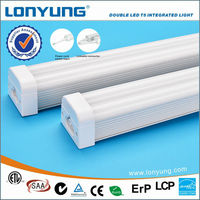 High efficient twin lead wire double integrated LED T5 tube