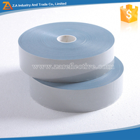 Silver Gray Reflective Tape Slipper High Visible 50x420(cd/1x m2) Reflective Heat Transfer Film Tape,Transfer Film Insulation