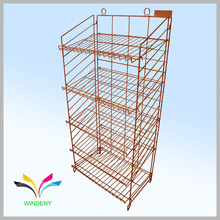 Supermarket Flooring Stand Metal Wire Bread Display Rack