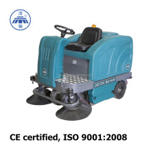 Floor sweeper Jiechi BA1400 CE road cleaning machine battery powered outdoor leaf sweeper