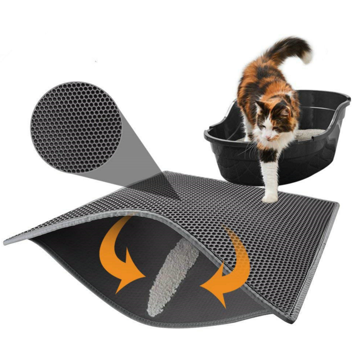 Cat Litter Mat PVC Foam Pet Litter Mat for Cat Litter antiskid car mat