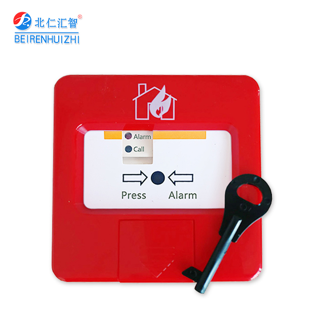 Emergency Fire Alarm Push Button with Resettable Key