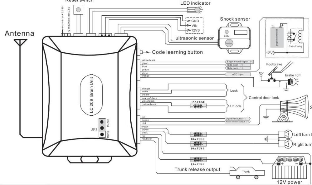 2017 spy one way magic car alarm system anti-hijacking dome light delay rearm