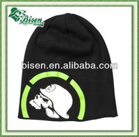 Fashion knitted beanie style kid wool cap with top ball