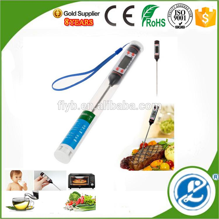 Long Thermometer Probe Stainless Steel Fork Bbq Meat Turkey Beef kitchen thermometer