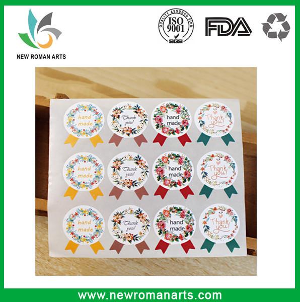 Vintage Handmade Stickers Kraft Label Sticker DIY Hand Made For Gift Cake Baking Sealing Sticker