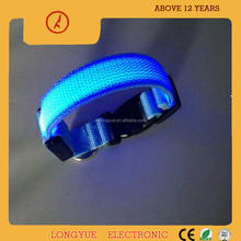 Best selling products pet accessories nylon led dog collar