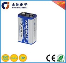 Stable quality power max 9V alkaline battery with CE ROHS ISO SGS