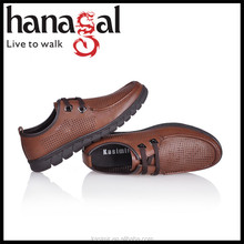 Men casual flat leather shoe summer 2014