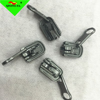 HYD Wholesale10# Rotate Zipper Slider Maker For zipper roll black New Designs Fancy Can Rotate Double Puller Slider