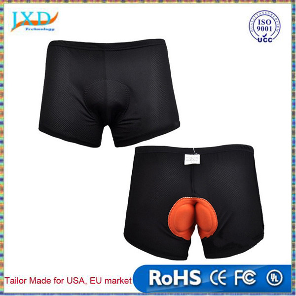 Shenzhen Sports Black Style Cycling Underwear Gel 3D Padded Bike/Bicycle Shorts M-3XL Outdoor
