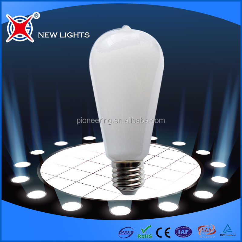 filament LED ST64 4w 6w IC driver led dimmable bulbs for residential lighting