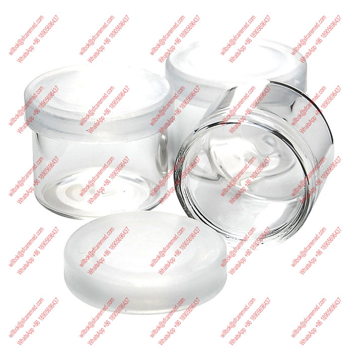 6ML Glass Wax Containers clear color 3ml 5ml 6ml CBD Wax Oil Concentrate Container glass Dab Jar
