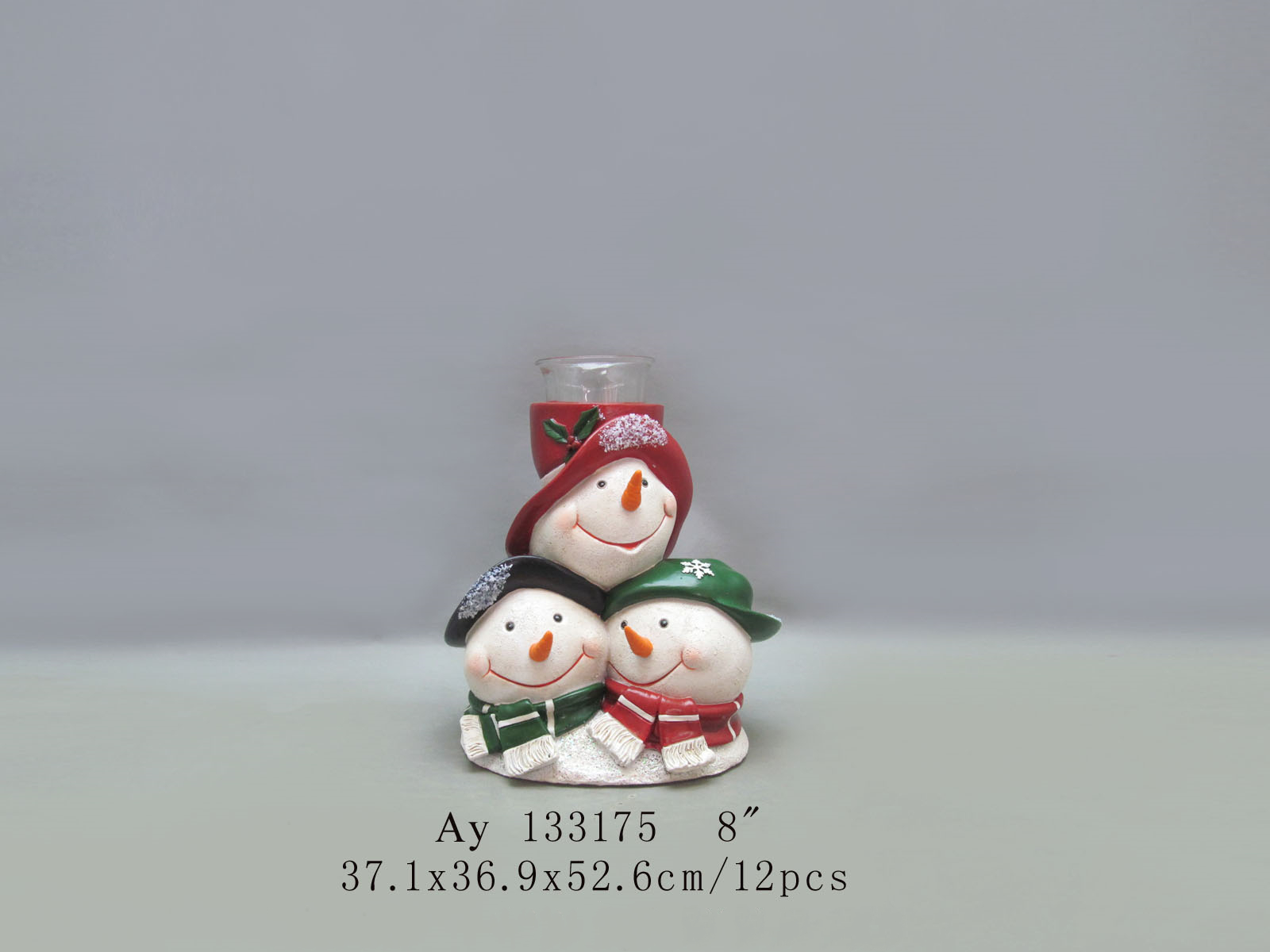 Christmas snowman and tree decoration with LED light for holiday decoration