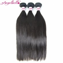 Angelbella Guangzhou Hair Traiding Companies 100% Human Hair Silky Straight Wave Can Be Dyed And Bleached Human Hair From India