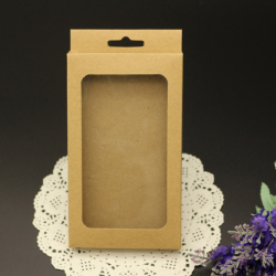 Large Blank Brown Phone Case Packaging Box,Custom Cell Phone Case Sell Packaging for iPhone 5 6 6plus
