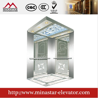 cheap good quality lifts and elevators hairline etching residental passenger lift type|building elevator for construction