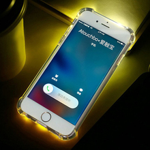 2017 New Armor Transparent Phone Case Led Light Phone Case For Iphone 7