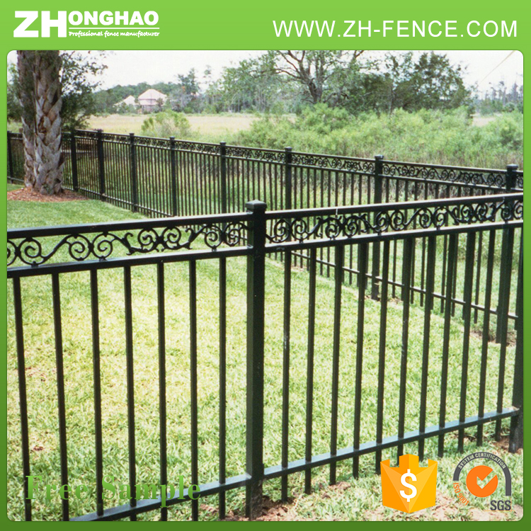 Square metal pipe Antique wrought iron fence