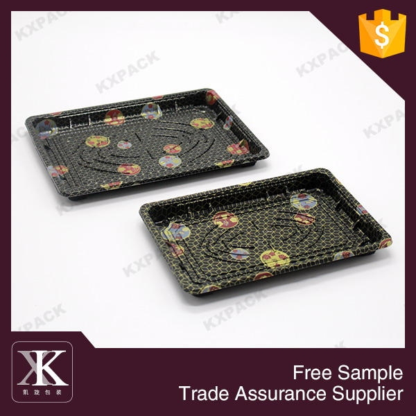 Latest design funny disposable plastic sushi tray for sale