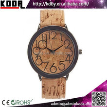 2015 alibaba wholesale KODA new unisex vogue quartz waterproof cork wrist watch