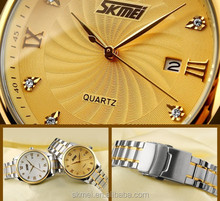 Quartz stainless steel watch strong water resistant clock china luxury product