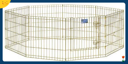 Small Pet Playpen Collapsible Puppies Crate Dog Cage Kennel Exercise Fence Mesh