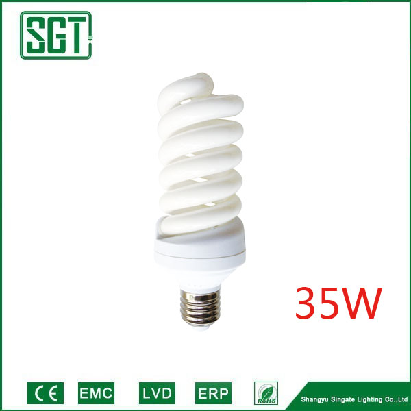 Compact Fluorescent Lamp E27 Full spiral Energy saving lamp