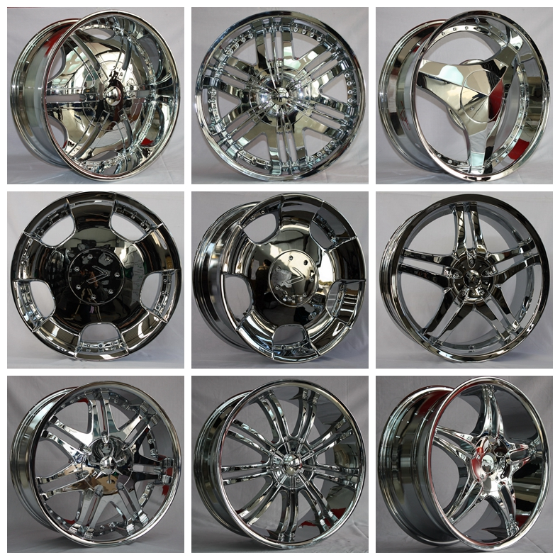 Excellent Shiny Galvanic Chrome SUV alloy wheels rims for cars