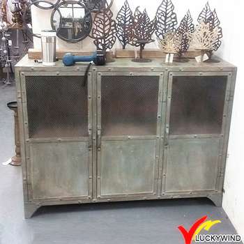 used look metal rustic antique vintage style industrial cheap furniture