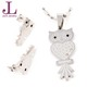 Owl Stainless Steel Necklace Jewelry Set