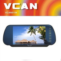 Fashion 7 inch best car rearview mirror monitor with 2 video inputs PAL/NTSC system cheap