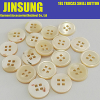18L Trocas 4 square holes shell button, natural shell button, sea shell button