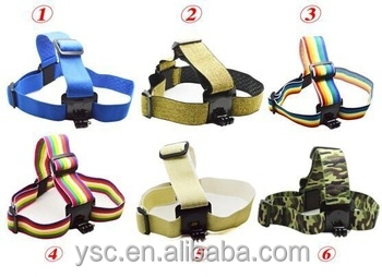 Wholesale Colorful Head strap for GoPros Heros 3+/3/2/1, with anti-slide glue same as original one gopros accessories
