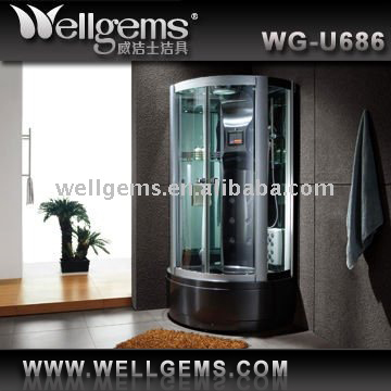 Multifunctional Steam Shower Cabin with steam room sanitary shower