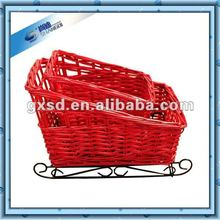 Willow Red vehicle basket decoration most popular Christmas gift