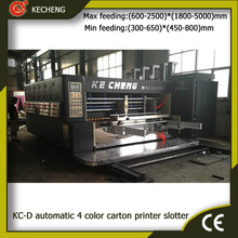 KC-D 1428 automatic corrugated carton 4 color flexo printing slotting machine