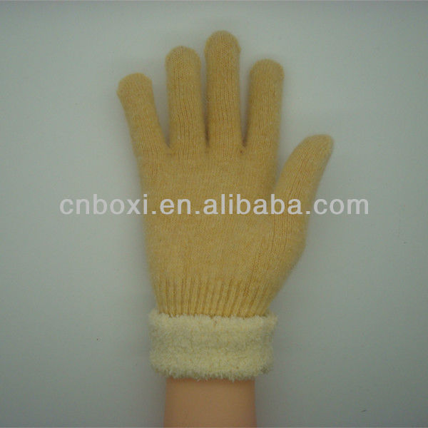 Boxi-High quality rabbit fur and chenille gloves