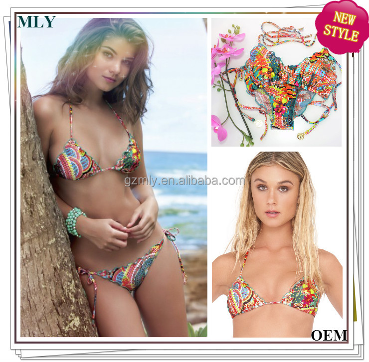Hot sex brazilian bikini xxx photos custom print fancy sling bikini manufacturer