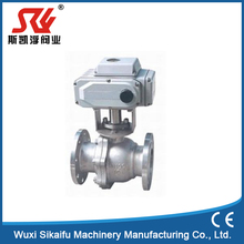 China High pressure Stainless steel electric motorized actuator cf8m 1000wog medium pressure 2pc dn50 Flange ball valve