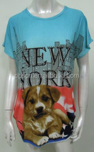 New lovely Girls printed T shirts with dog pattern