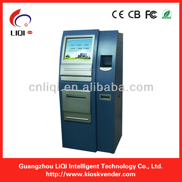 touch screen kiosk with A4 printer,A4 laser printer kiosk,thermal printer touch kiosk
